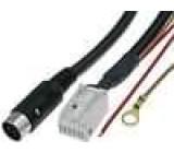 Kabel pro měnič CD DIN 13pin vidlice, Quadlock 12pin Audi, VW