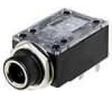 Zásuvka Jack 6,3 mm zásuvka stereo, se dvěma vypínači THT