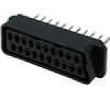 Konektor SCART zásuvka přímý THT do panelu