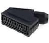 Konektor SCART zástrčka zásuvka úhlový na kabel