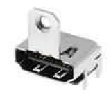 Konektor HDMI zásuvka s držákem 19 PIN povrch gold flash