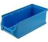 Zásobník dílenský 102x215x75mm modrá plast