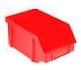 Zásobník dílenský červená polypropylén 224x144x108mm
