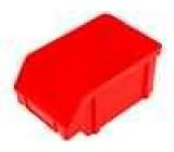 Zásobník dílenský červená polypropylén 157x101x74mm