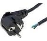 Kabel vodiče síťové typu do zásuvky E/F vidlice černá 3m 3x0,75mm2