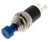Přepínač tlačítkový bez aretace modrá