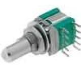 Přepínač otočný 3 polohy 0,1A/16VDC 2 sekce 30° L:7mm