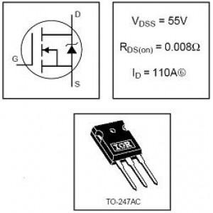 IRFP064N N MOSFET 55V/110A/200W/8mohm TO247AC