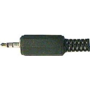 JACK konektor 2,5 stereo plast černý
