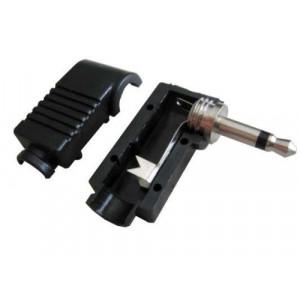 JACK konektor 3,5 mono plast úhlový černý