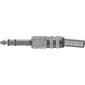 JACK konektor 6,3 stereo kovový niklovaný