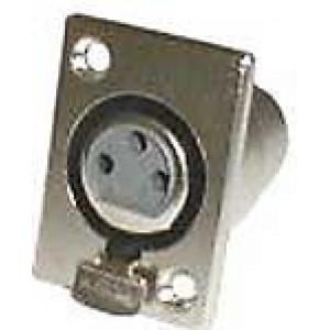 XLR zdířka Canon 3P panel
