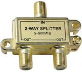 Rozbočovač IN/2x OUT 5-900 MHz s F konektory