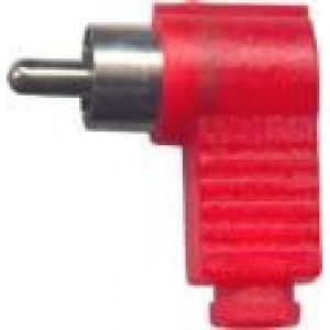 CINCH konektor plastový úhlový červený