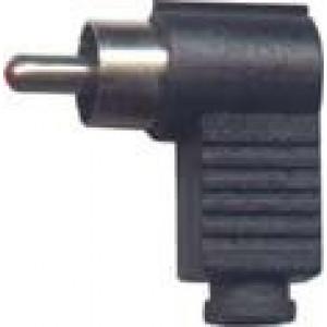 CINCH konektor plastový úhlový černý