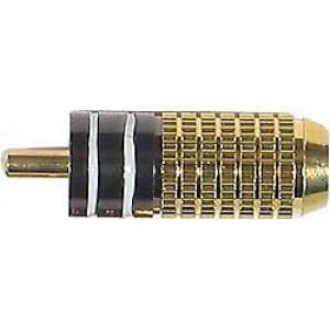 CINCH konektor zlacený,kabel do 6mm bílý proužek DOPRODEJ