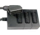 Redukce SCART konektor/3x SCART zdířka 0,5m DOPRODEJ