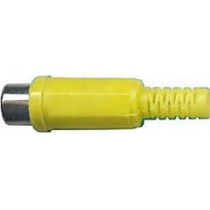 CINCH zdířka plastová žlutá na kabel