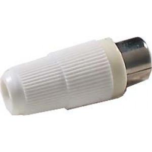 CINCH zdířka kabelová bez vývodky bílá