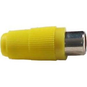 CINCH zdířka kabelová bez vývodky žlutá