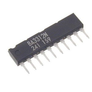 BA3312N nf zesilovač stereo, SIP10