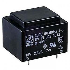 Trafo DPS 1,9VA 1x9V(0,21A) 27,5x32,5x23,8 70°C