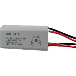 Odrušovací filtr TSK6415 2x10uH+0,22uF+2x2n5 2,5A