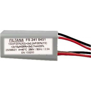 Odrušovací filtr FS241 100n+2x2n2+2x10uH+2x2,7mH