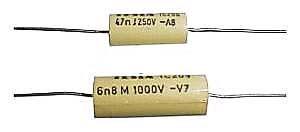 47n/250V TC206 svitkový kondenzátor axiální, pr.6x14mm