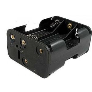 Držák baterie 6xR6/AA/UM3 s pájecími očky