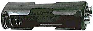 Držák baterie 2xR6/AA/UM3 s klipsem