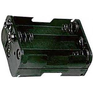 Držák baterie 6xR6/AA/UM3 s klipsem