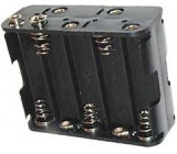 Držák baterie 10xR6/AA/UM3 s klipsem