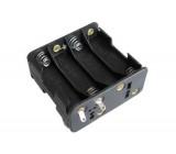 Držák baterie 8xR6/AA/UM3 s pájecími očky