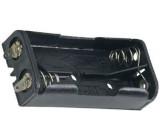 Držák baterie 2xR03/AAA s pájecími očky