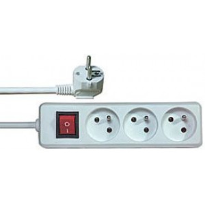 Prodlužovací přívod 1,5m-3x10A+vypínač,3x1mm2