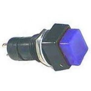 Tlačítko OFF-(ON) 1pol.250V/1A,modrý hmatník
