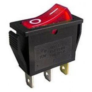 Vypínač kolébkový OFF-ON 1pol.250V/15A, červený