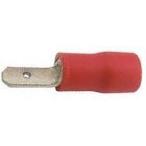 Faston-konektor 2,8mm červený pro kabel 0,5-1,5mm2
