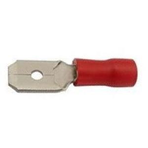 Faston-konektor 6,3mm červený pro kabel 0,5-1,5mm2