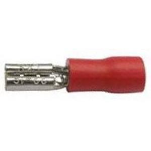 Faston-zdířka 2,8mm červená pro kabel 0,5-1,5mm2