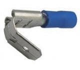 Faston-rozvaděč 6,3mm modrý pro kabel 1,5-2,5mm2