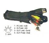 Kabel 4xCinch-DIN5 1,5m