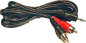 Kabel 2xCinch-Jack 3,5 stereo 1,5m