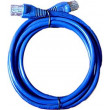UTP kabel Patch RJ45 10m modrý cat5e