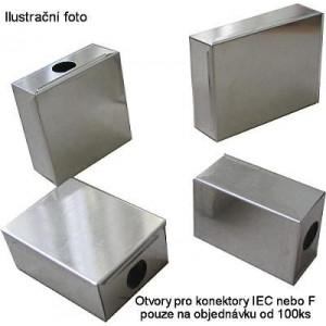 Krabička plechová 42x57x17mm s víčkem