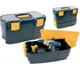 Kufr na nářadí dvoudílný plastový 420x220x340mm