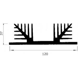 Chladič Al ZH2476 120x37x100mm