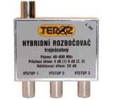 Rozbočovač 3x hybridní širokopásmový TEROZ 104