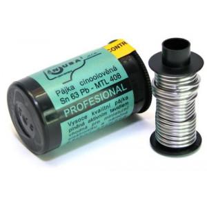 Pájka trubičková 0,8mm 40g 63%Sn 37%Pb+tavidl MTL